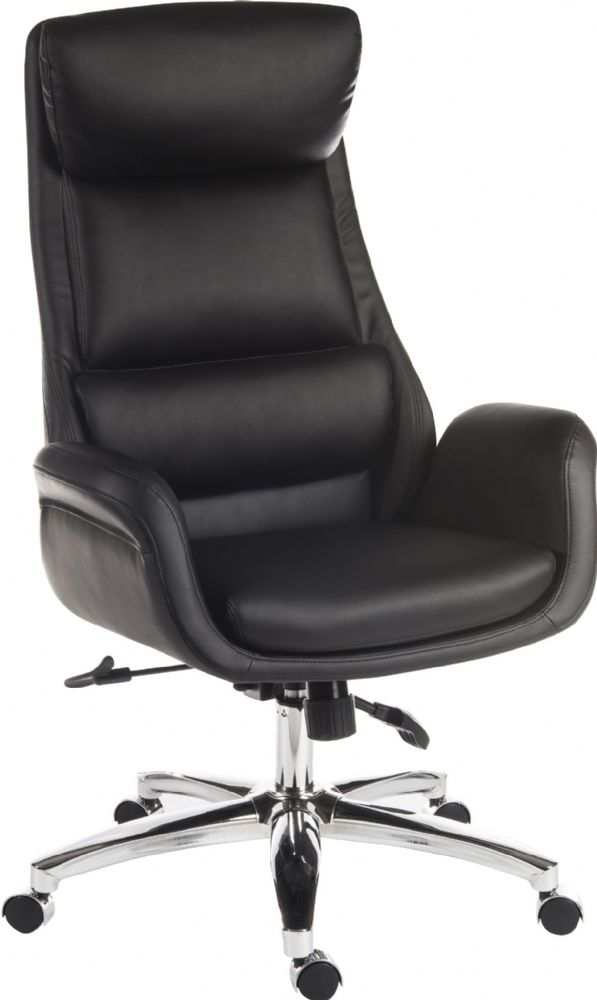 TEKNIK Ambassador Executive Reclining Chair in Black Leather Look